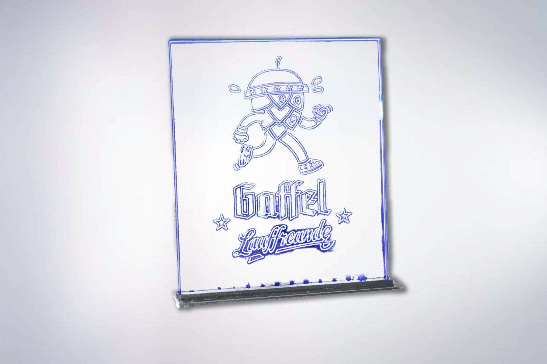 Gaffel-Leuchtdisplay